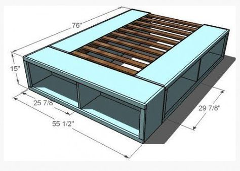 build your own platform bed with storage oh yeah