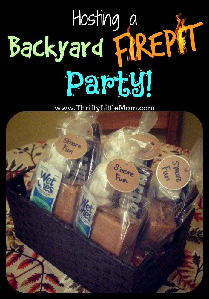 Tips and tricks for hosting thrifty backyard fire pit parties with family and friends all season long!  Discover easy to make comfort foods to set the perfect firepit party mood!