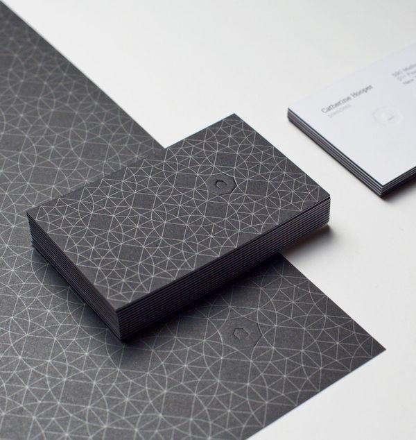 Black Umbrella Business Card Design