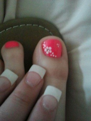 Best 25 flower pedicure designs ideas on pinterest flower toe not a fan of the fingers but the pedicure with flower design is cute prinsesfo Image collections