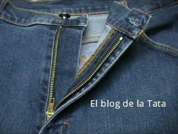 El blog de la Tata: Cómo poner una cremallera a un pantalón
