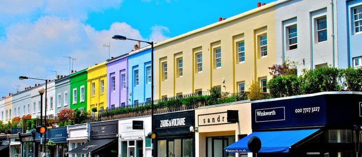 Shopping on Westbourne Grove.