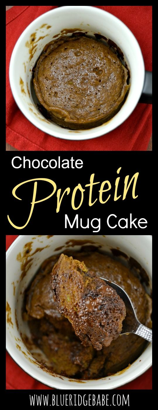 Gluten Free Chocolate Protein Mug Cake: almost 15 grams of protein and completely delicious! The BEST mug cake you can make!