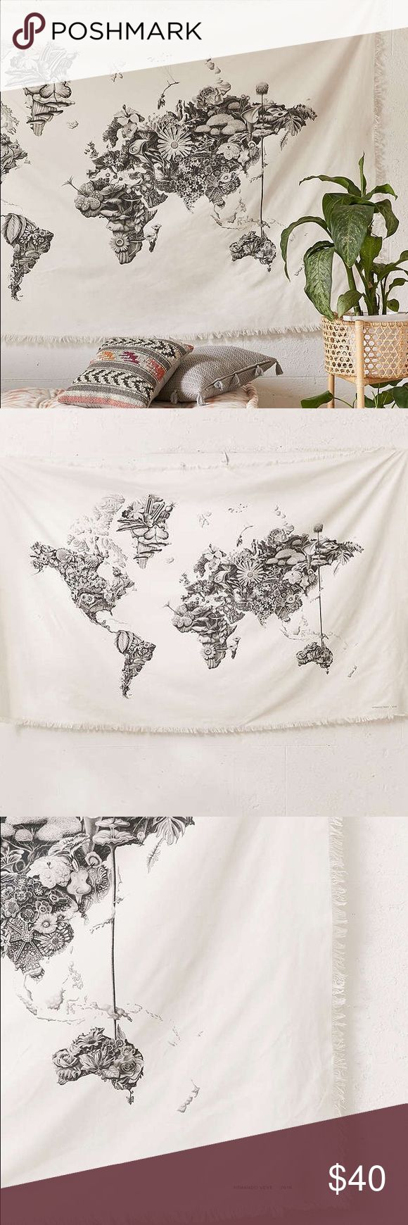 Armando Veve Map Wall Tapestry Online from urban outfitters, still in original packaging - hasn't been removed from the box (decided it doesn't fit my room) Urban Outfitters Other
