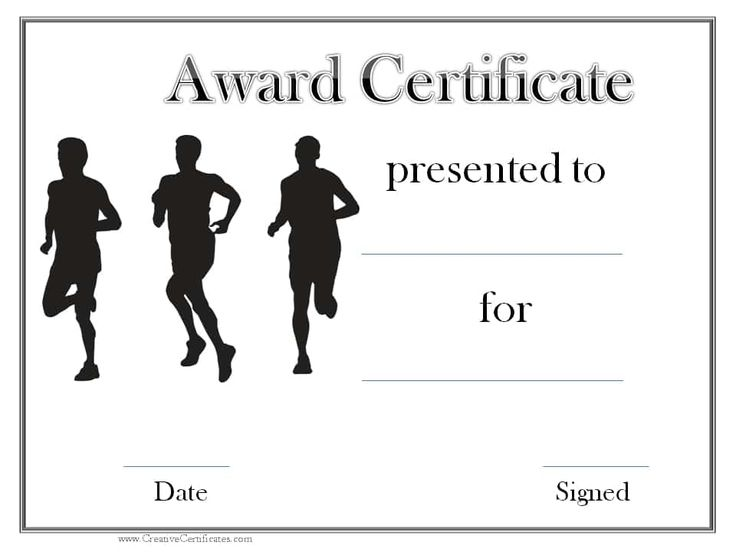 7 best track and field images on Pinterest Track and field - certificate template maker