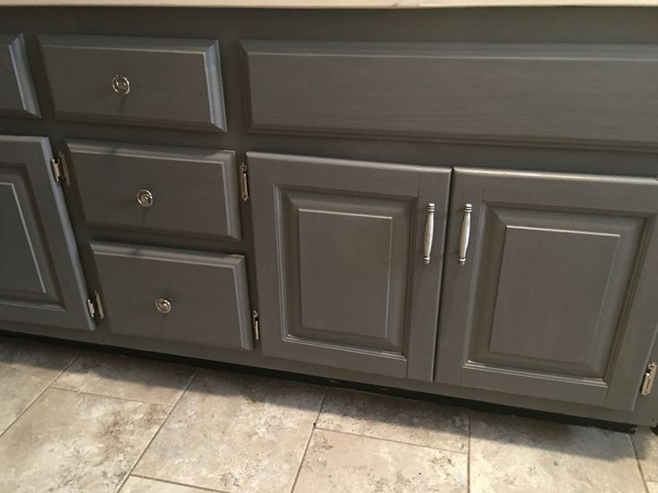 General finishes milk paint driftwood gray bathroom vanity makeover the things i do Best paint finish for bathroom