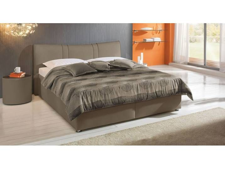 Polsterbett Mit Bettkasten 100x210 Cm Taupe Kunstlederbett Venet Bed Furniture Home Decor
