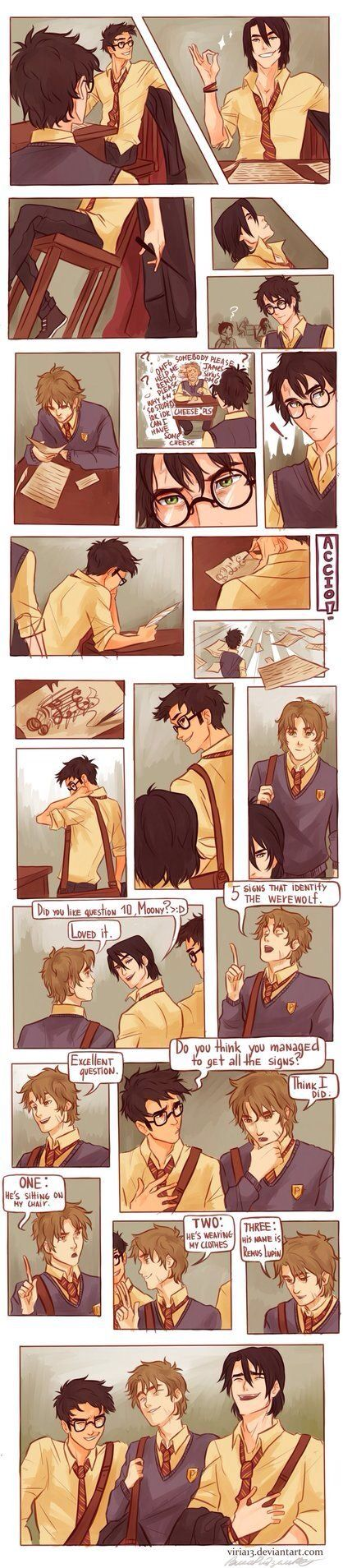 Marauders Mooney, Wormtail, Padfoot, and Prongs, a.k.a. Remus Lupin, Sirius Black, Peter Pettigrew, and James Potter.