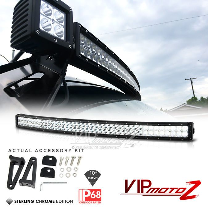 "#Dodge #Ram #Durango #Ford #TOYOTA #4Runner #Sequoia #Chevrolet #Suburban #NISSAN #Xterra #JEEP #GrandCherokee [BRIGHTEST+CURVED] 42"" Inch 240W OFFROAD 4WD JEEP TRUCK S.M.D LED LIGHT BAR KITS #VIPMOTOZ"