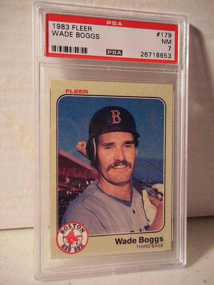 1983 fleer wade boggs rc psa nm 7 baseball card 179 mlb