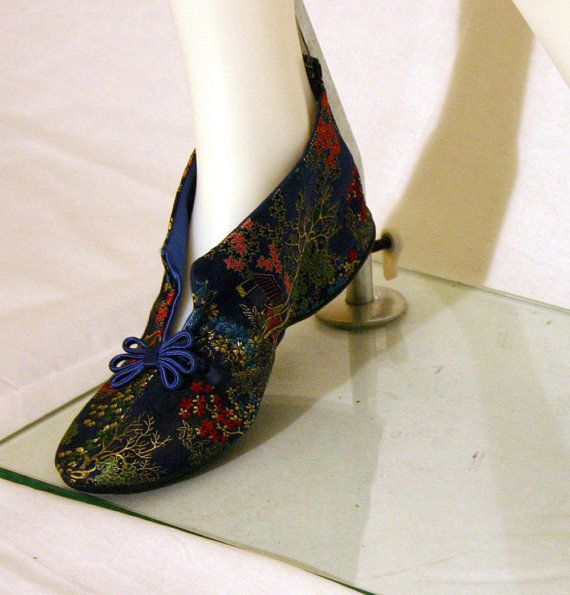 Vintage 60s Daniel Green Oriental Brocade by ThedaBaraVintage   38 00. 17 Best images about Vintage Houseshoes   Slippers on Pinterest