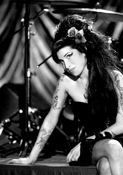 Amy Winehouse | 27 Club | tattoos | brilliant artist | musician | sad loss | addiction | drugs and alcohol | devastation | loss of life | talented | beehive | ink | www.republicofyou.com.au