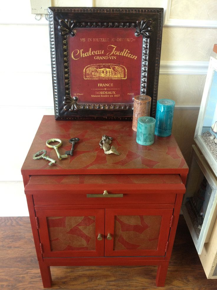 Used emperor 39 s silk chalk paint then decoupaged for Furniture decoration paper