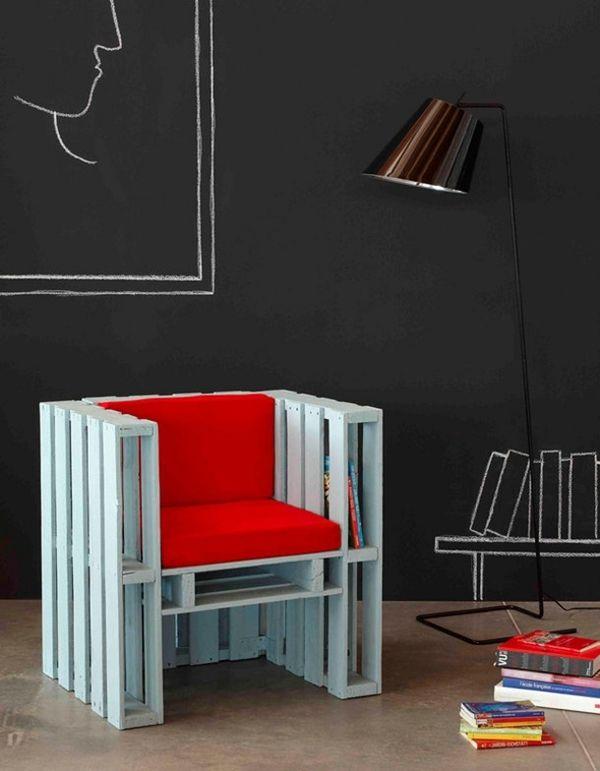 Pläne und Anweisungen für die Herstellung einen Sessel mit 4 Paletten
