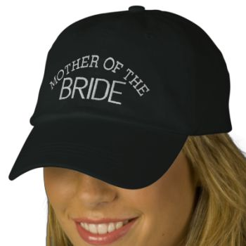 A Perfect hat for the Mother of the Bride! #bride #mother #wedding #engagment #fun #mother #of #the #cap #bridal #shower #gift #baseball #cap #weddings #engagements