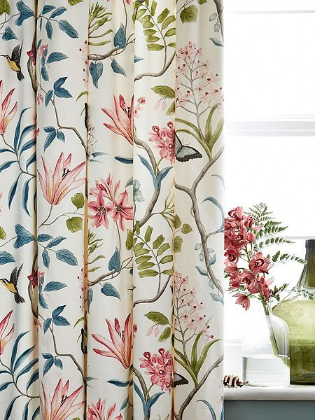 Clementine lined curtains 66 x 72 duck egg