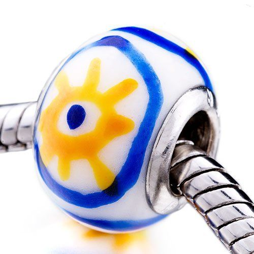 Pugster Yellow Flower Ceramic European Bead Fits Pandora Bead Charm Bracelet Pugster. $8.99. Size (mm): 10.25*13.52*13.52. Color: white,yellow,blue. Metal: ceramic. Weight (gram): 1.8