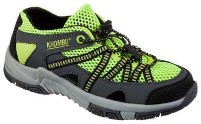 Khombu Threadfin Water Shoes for Kids - Hot Yellow - 12 Kids