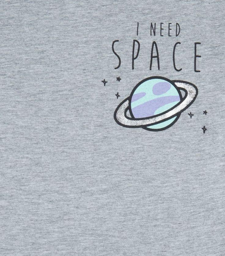 Teens Grey I Need Space T-Shirt   New Look