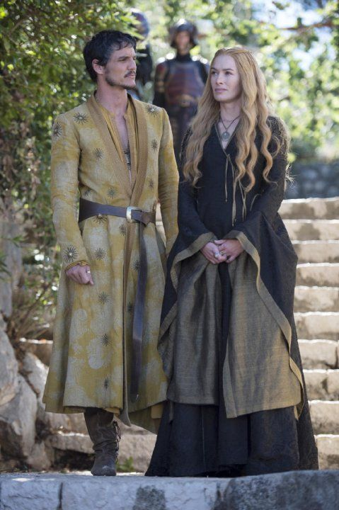 Pedro Pascal and Lena Lena Headey in Game of Thrones, 2014.