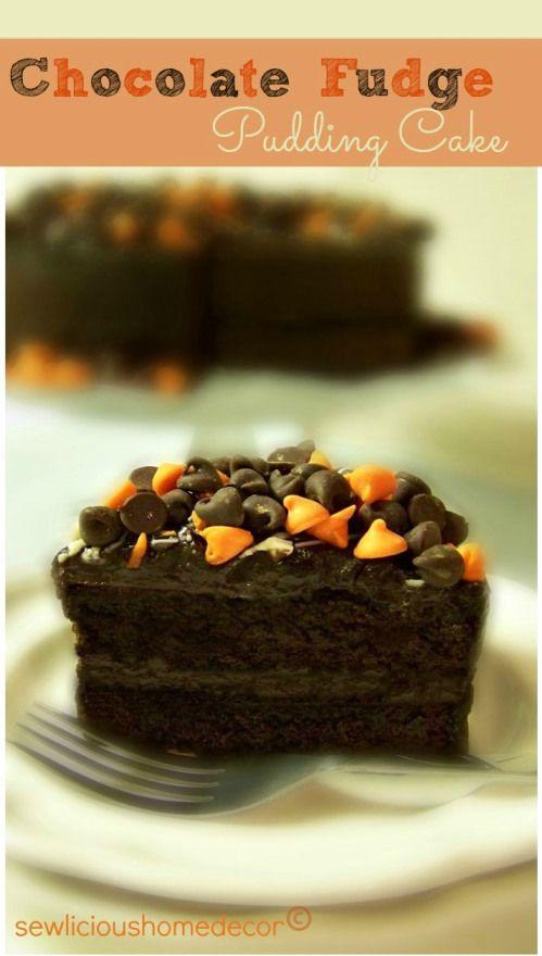 Rich and Moist! #Halloween #chocolate #fudge #pudding #cake #dessert  ::  #sewlicioushomedecor.com