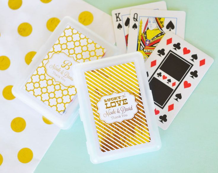 Metallic Foil Personalized Playing Cards