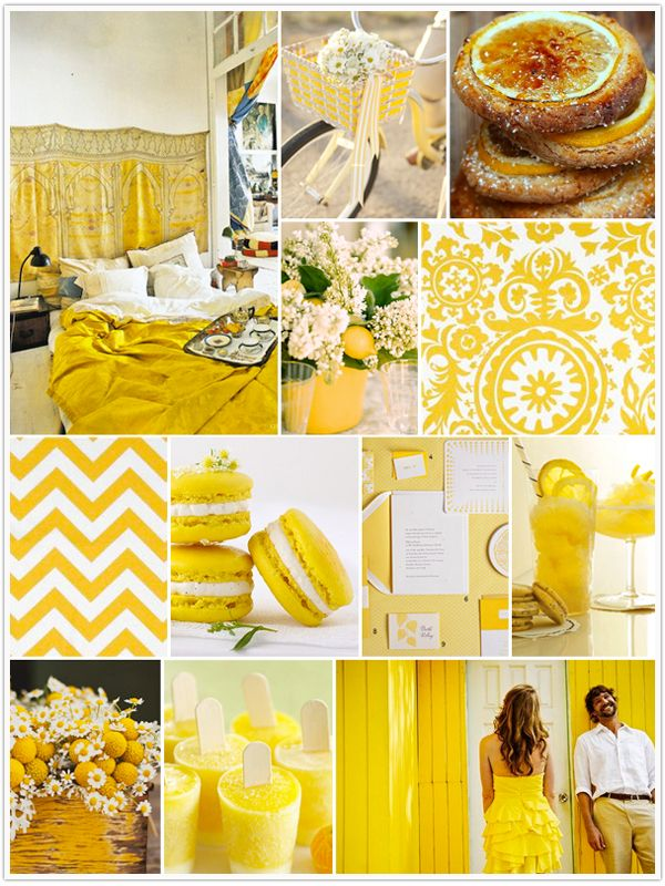Monochromatic Monday, Sunny Days, Yellow, citrus, bicycle basket, leon cookies, centerpiece, fabric swatch, macaroons, stationary