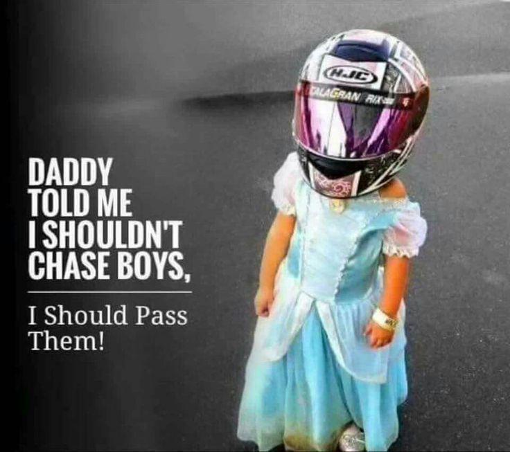 Chasing boys | passing boys | biker girls | biker quotes | motorcycle | kids in helmets