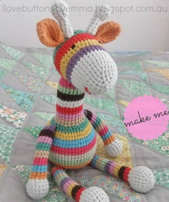 Crochet Stripey Giraffe Free Pattern