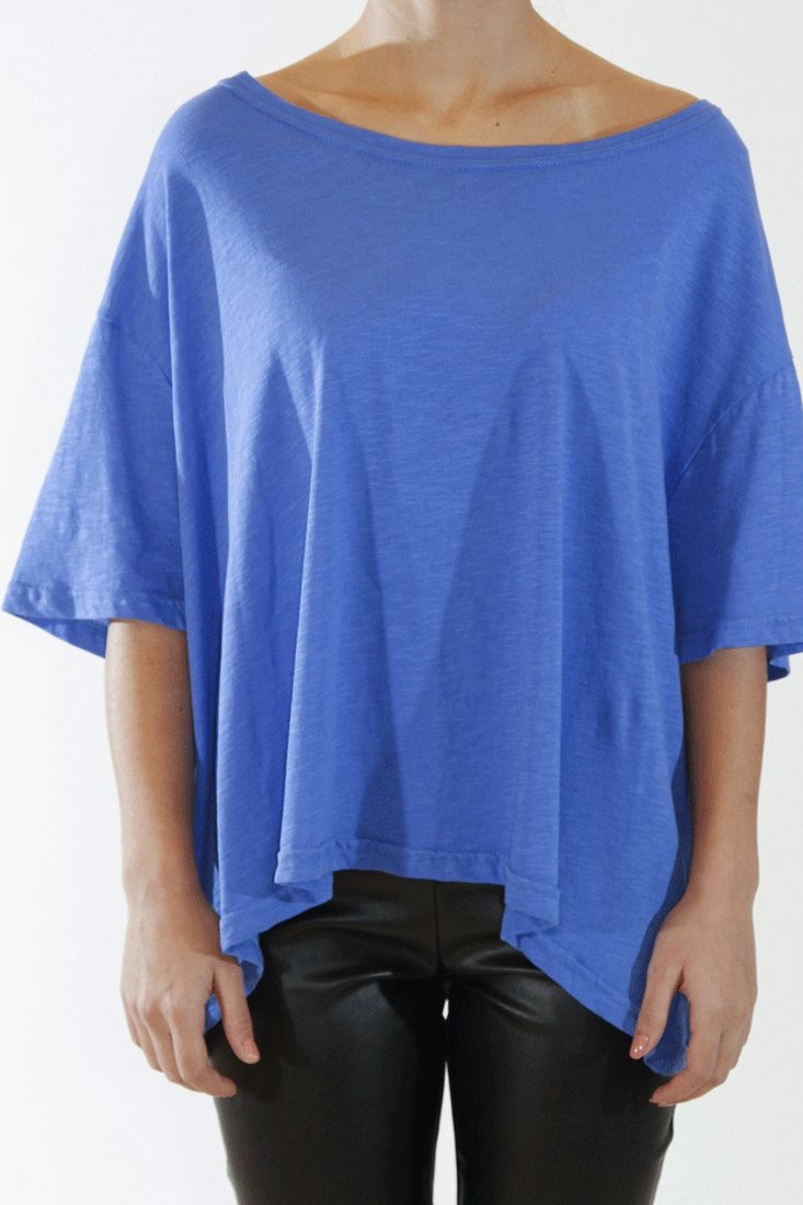 Loose Tshirt Pure cotton Big neckline One size Easy to wear by Tereza Callitsas  #callitsas #tops #greek4chic