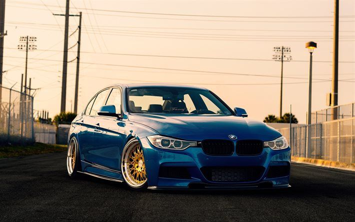 BMW M3, F80, tuning, road, 2016 cars, blue m3, BMW