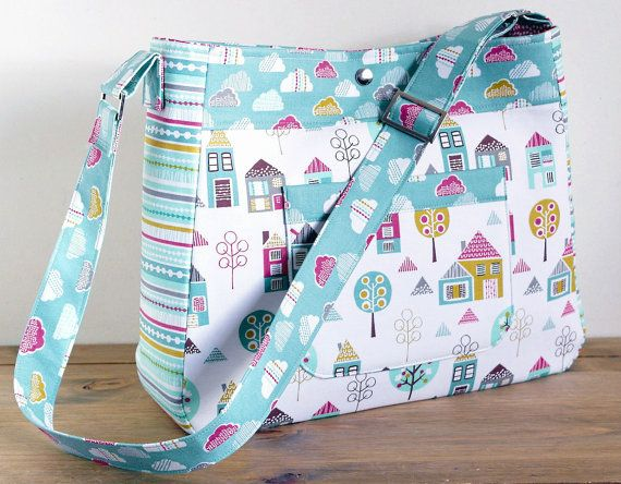 Diaper Bag Pattern Petite Street Nappy Bag Sewing por SusieDDesigns