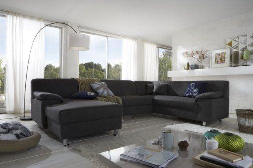 Dreams4Home Polsterecke Laguna Sofa Wohnlandschaft Couch U-Form Schlaffunktion grau strukturiert, Ausfühung Anschlag:Ohne Schlaffunktion - Ottomane rechts Dreams4Home http://www.amazon.de/dp/B00JIK8XH0/ref=cm_sw_r_pi_dp_117owb08YD4RC