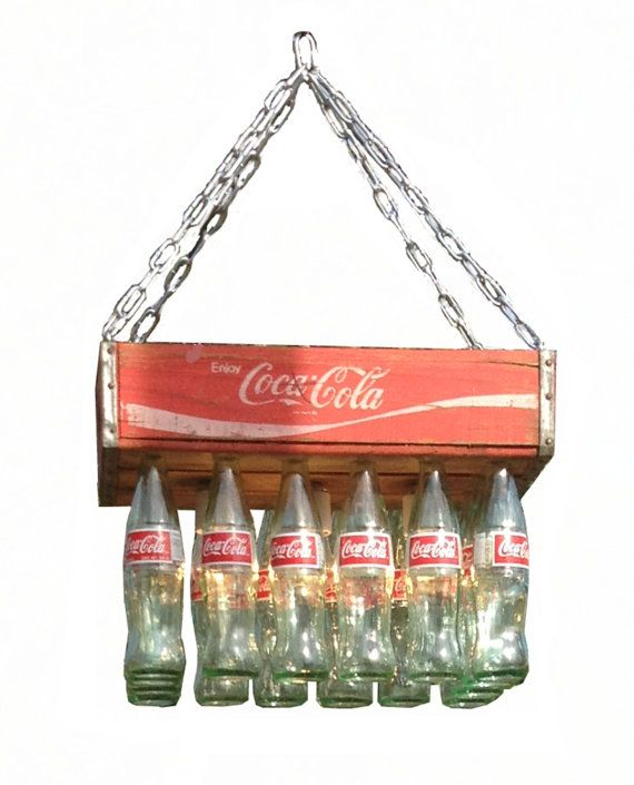 Coke Crate Chandelier by BigSwigDesign on Etsy