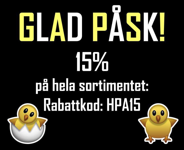 Vi på HairMax önskar er alla en GLAD PÅSK! Fram till den 7 april får du 15% på hela sortimentet. Använd rabattkoden på bilden!  http://www.hairmax.se/