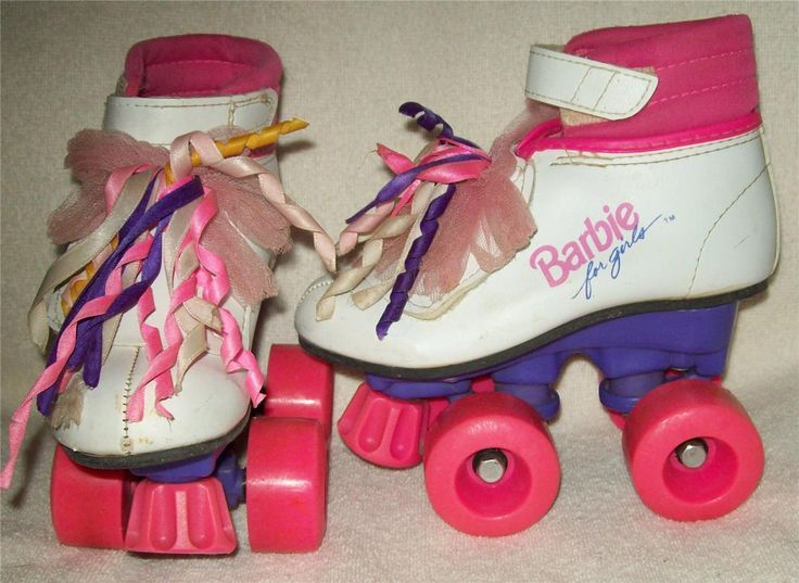 Rollerblades And Toys : Barbie for girls boot roller skates back in the day