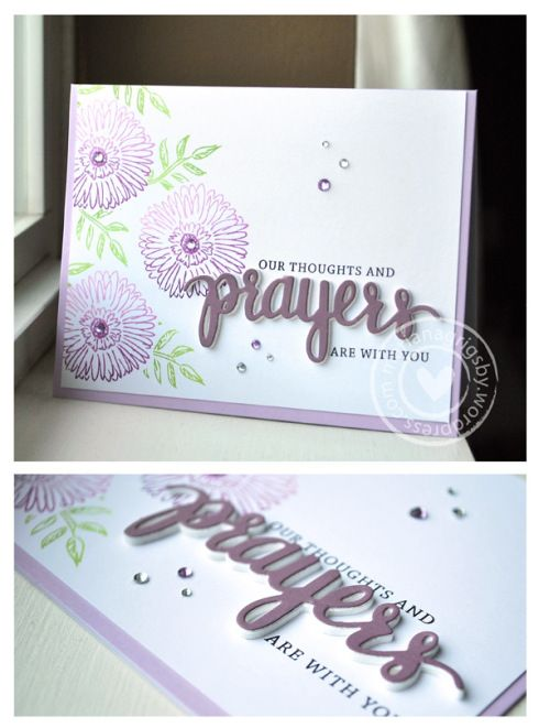 Such a Pretty card created by Marianna using the STAMPtember Exclusive set by Hero Arts for Simon Says Stamp.