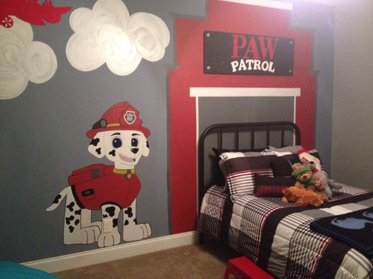 Paw patrol room for my son