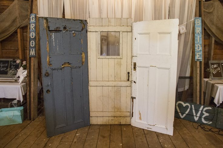 Old Doors in a Country Wedding