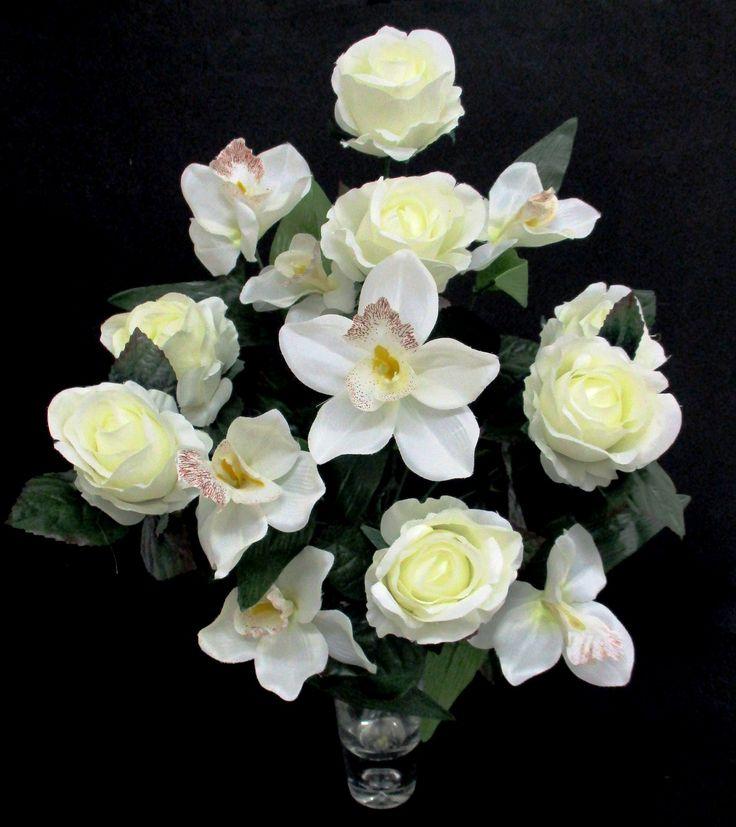 Rózsa - orchidea csokor