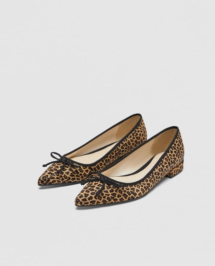 PRINTED LEATHER BALLERINAS-View all-SHOES-WOMAN | ZARA United States