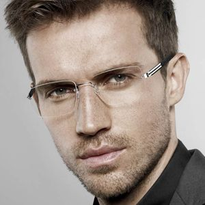 Men's Classic Rimless Glasses