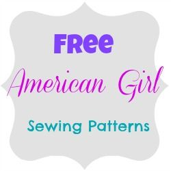 American Girl Sewing Patterns.  Use scraps of fabric to create easy to sew doll clothes #americangirl #diy #sewing