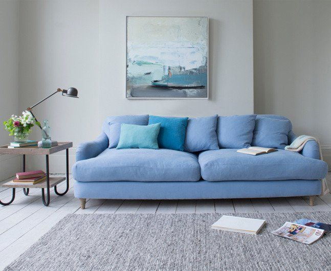 Pin for Later: 15 Serious Statement-Making Sofas For All Budgets Loaf Achilles Sofa in China Blue Brushed Cotton (£1,395)