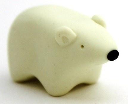 polar bear miniature polymer clay polar bear figurine by BeaKez