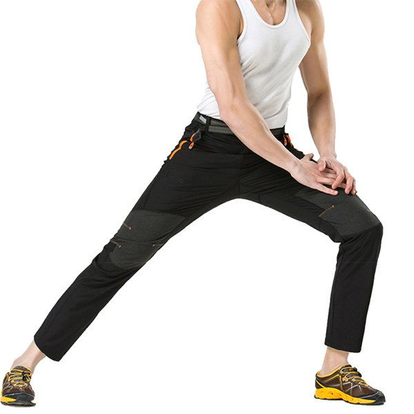 Summer Ooutdoor élastique Quick Drying pantalon Mens Splicing couleur Sun-proof escalade pantalon de randonnée chez Banggood