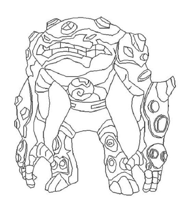 Ben 10 Destroy All Aliens Coloring Pages