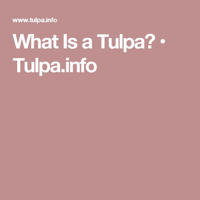 What Is a Tulpa? • Tulpa.info