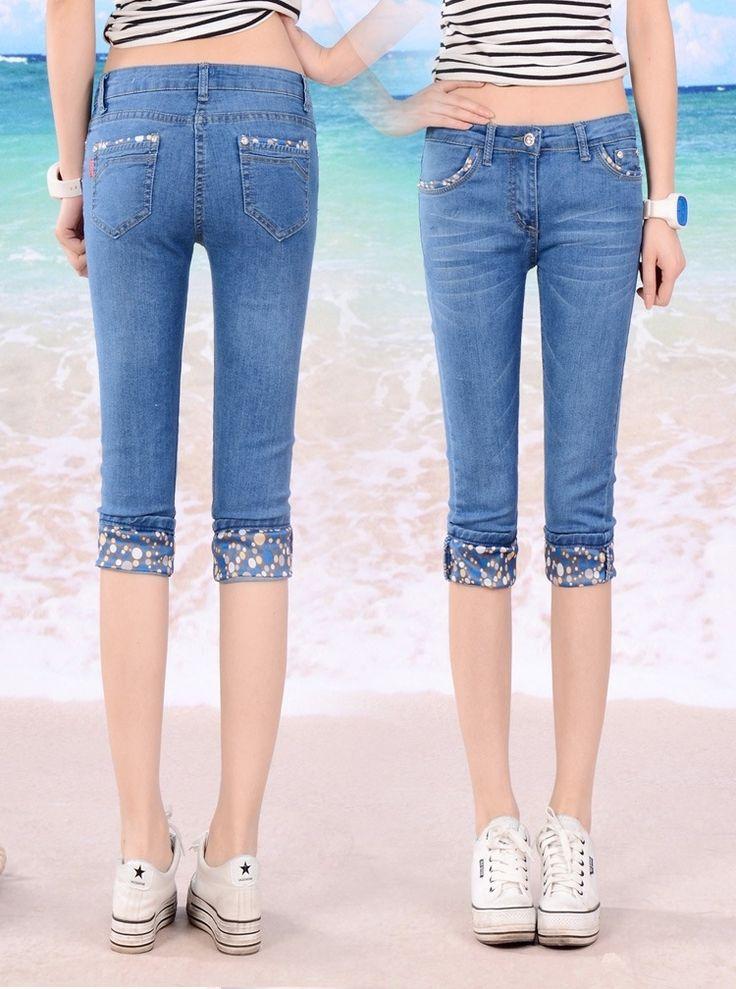 29.30$  Watch now - https://alitems.com/g/1e8d114494b01f4c715516525dc3e8/?i=5&ulp=https%3A%2F%2Fwww.aliexpress.com%2Fitem%2F2016-Summer-New-Korean-Slim-Thin-Denim-Pant-Women-Large-Plus-Size-Pants-Jeans-Female-Feet%2F32657462575.html - 2016 Summer New Korean Slim Thin Denim Pant Women Large Plus Size Pants Jeans Female Feet Pencil Pants Calf-Length Pants Cuffs 29.30$