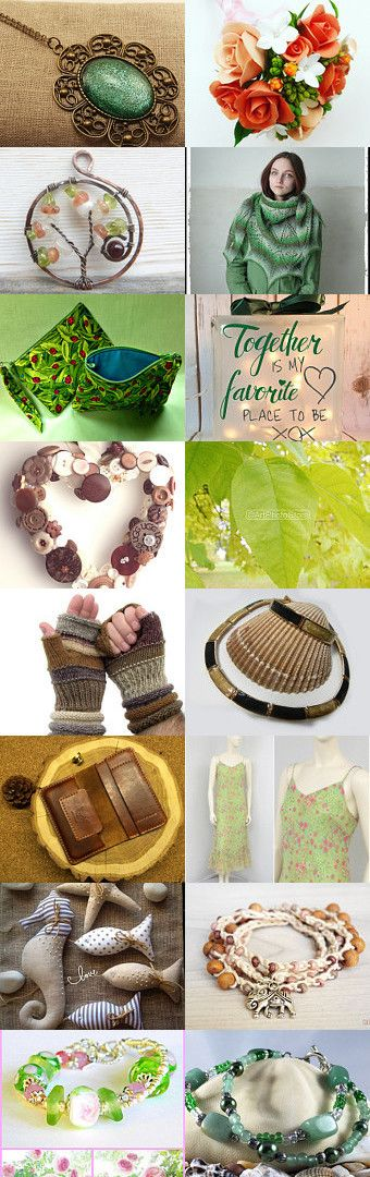 Beautiful browns and greens for all season! by Liz Garcia on Etsy--Pinned+with+TreasuryPin.com